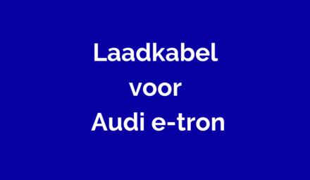 Laadkabel voor Audi e-tron 55