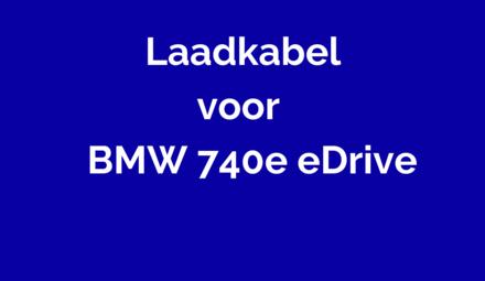 Laadkabel voor BMW 740e eDrive
