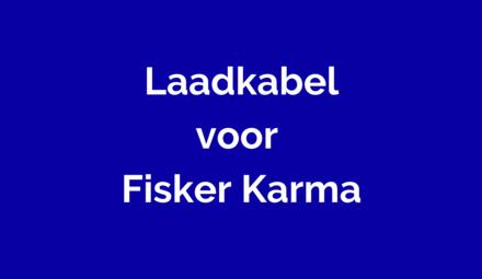 Laadkabel voor Fisker Karma