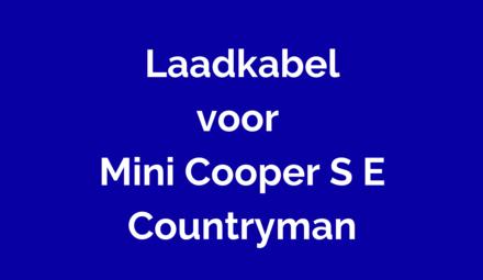 Laadkabel voor Mini Cooper S E Countryman