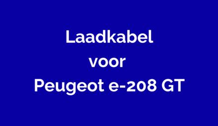 Laadkabel voor Peugeot e-208 GT