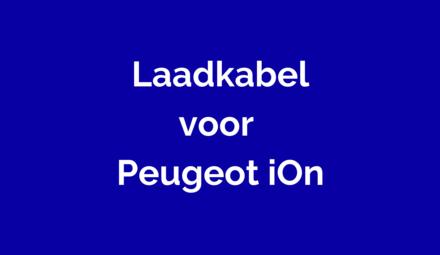 Laadkabel voor Peugeot iOn