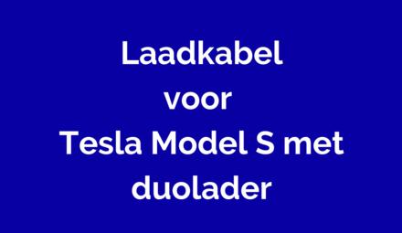Laadkabel voor Tesla Model S met duolader