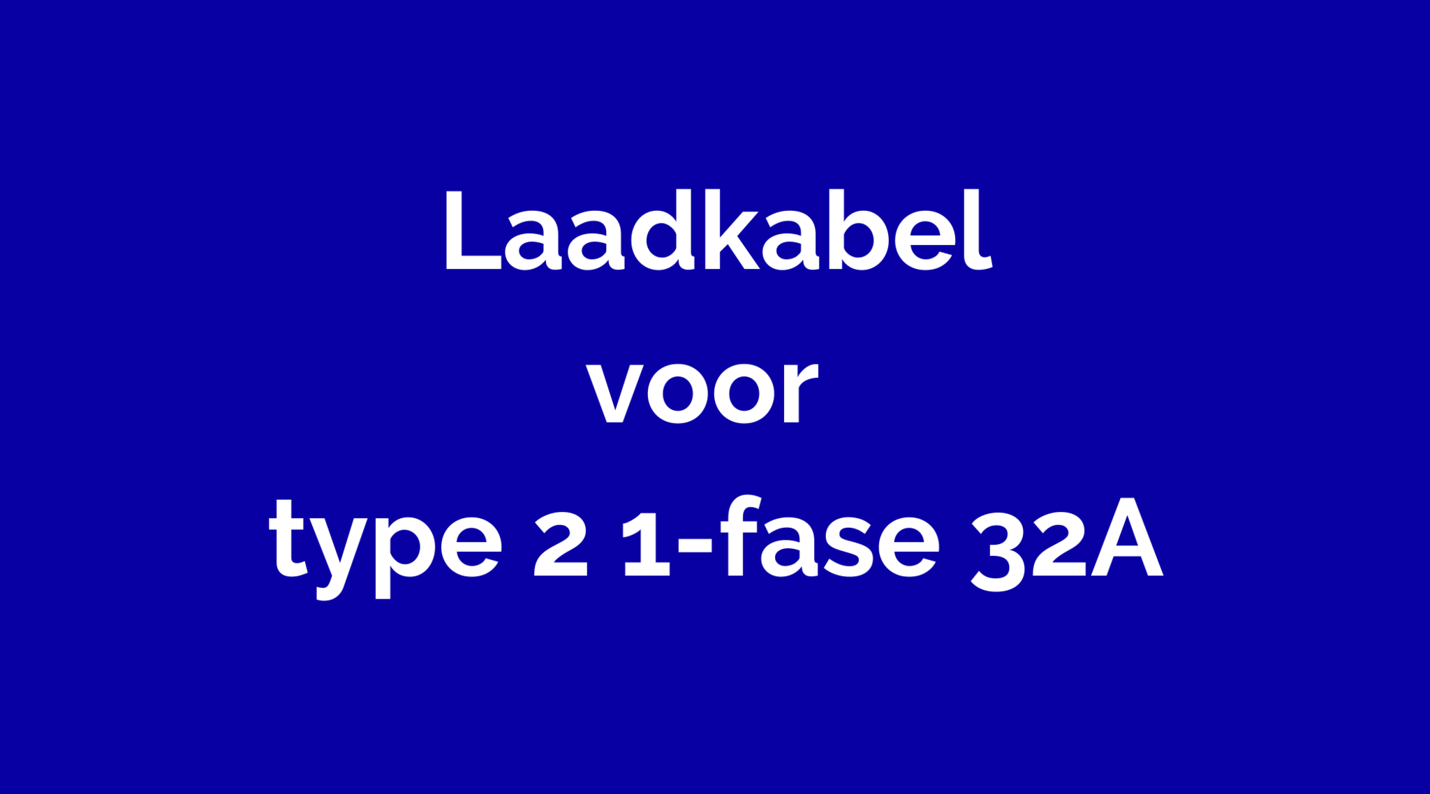 Type 2 Mennekes 1-fase 32A