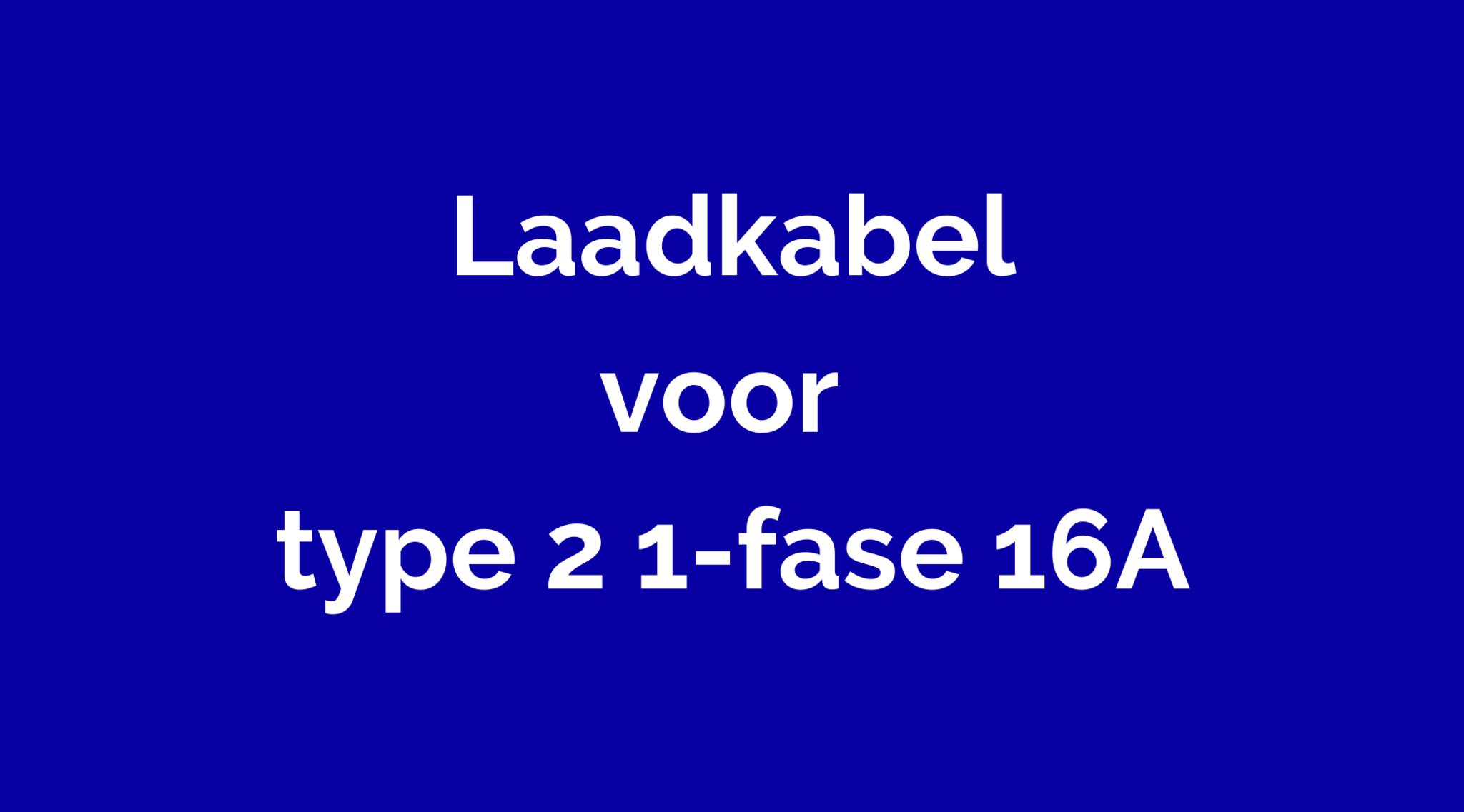 Type 2 Mennekes 1-fase 16A