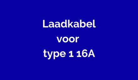 Laadkabels voor type 1 (J1772) 16A voor elektrische auto's