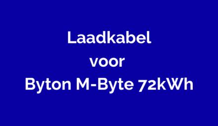 Laadkabel voor Byton M-Byte 72kWh