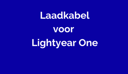 Laadkabel voor Lightyear One