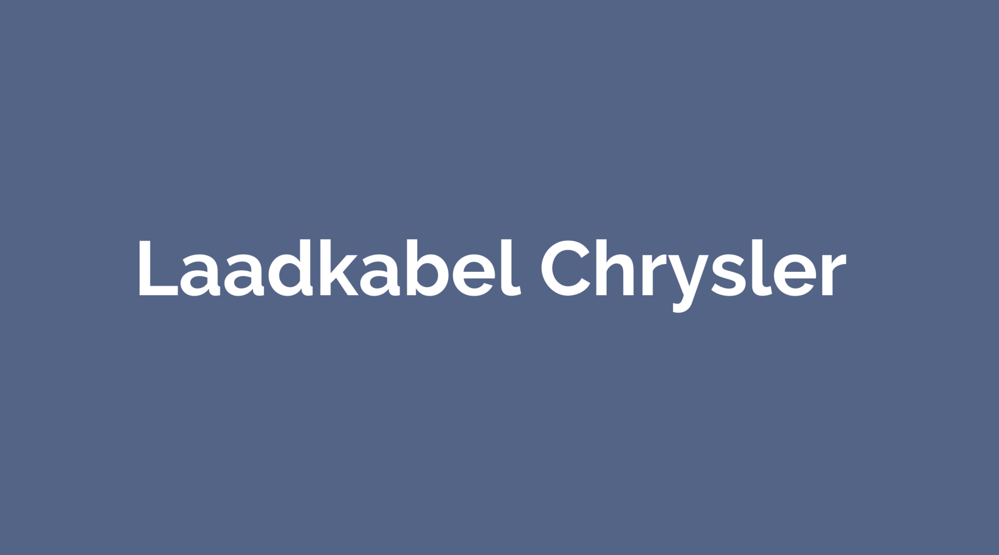 Laadkabel Chrysler