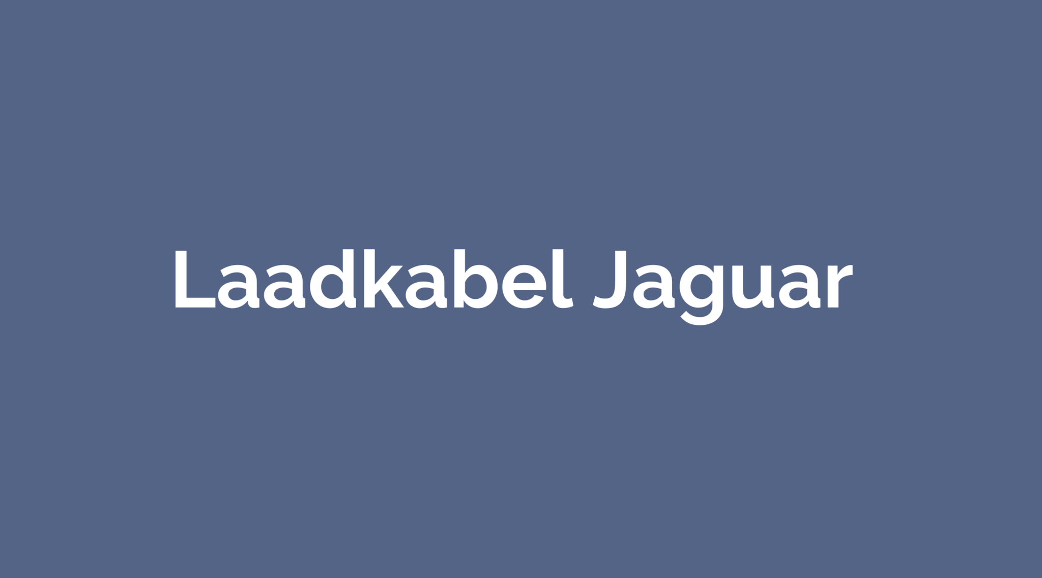 Laadkabel Jaguar