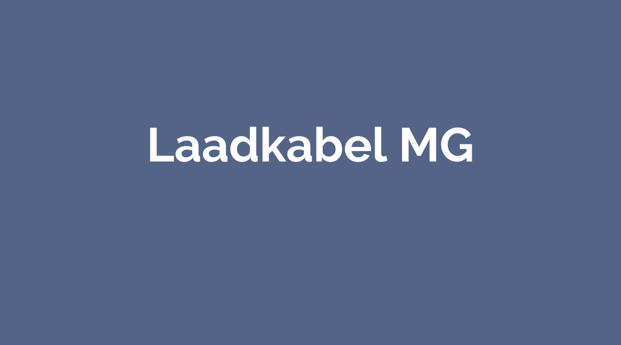 Laadkabel MG