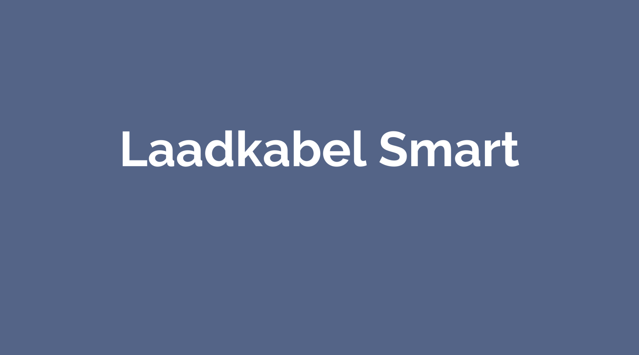 Laadkabel Smart