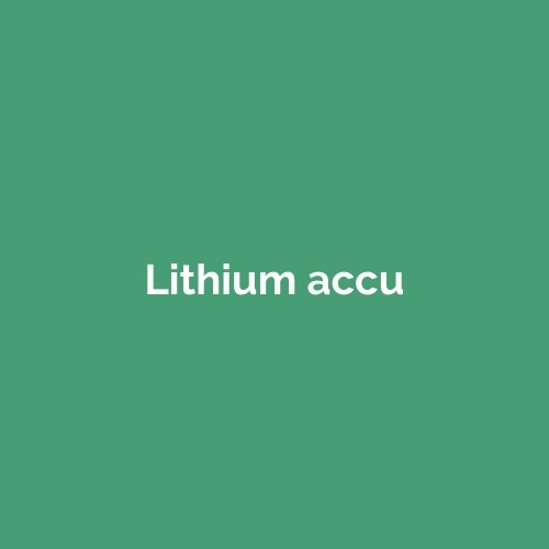 Lithium accu voor camper, caravan en boot