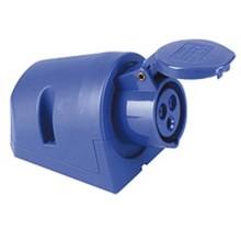 CEE wandcontactdoos voor buiten 1-polig 32A voor veilig laden met 32A thuislader