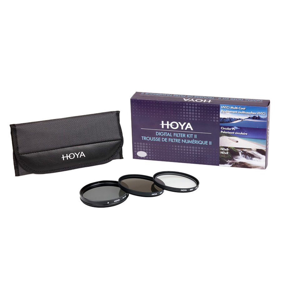 Hoya filter set 77mm (3 filters)-1