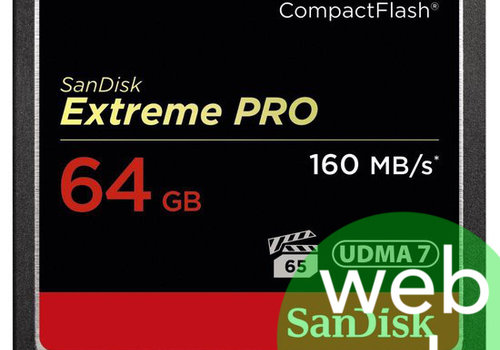 Sandisk 64GB Extreme Pro 160mb/s Compact Flash