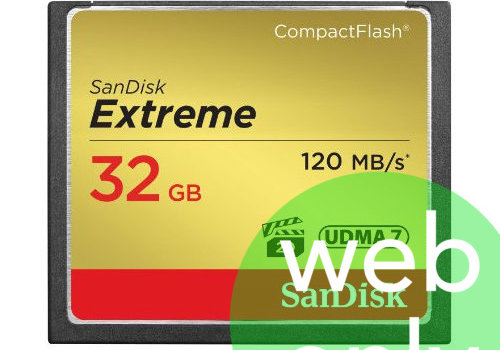 Sandisk 32GB Extreme 120mb/s Compact Flash