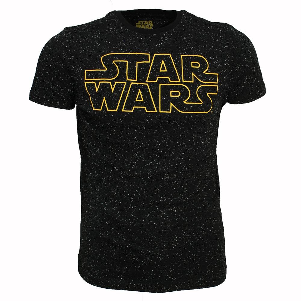 Star Wars Star Wars Logo All over Print Galaxy T-Shirt Black/Yellow/White