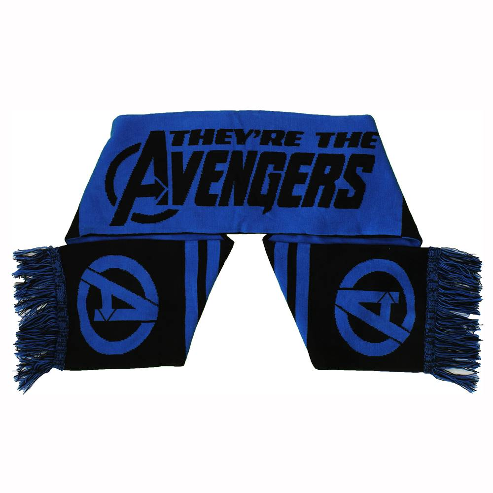 The Avengers Marvel Comics The Avengers Knitted Scarf Blue/Black