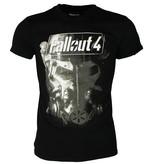 Fallout Fallout 4 Brotherhood of Steel T-Shirt Zwart/Wit