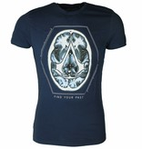 """Assassin's Creed  Assassin Creed Brain """"Find Your Past"""" T-Shirt Blue"""