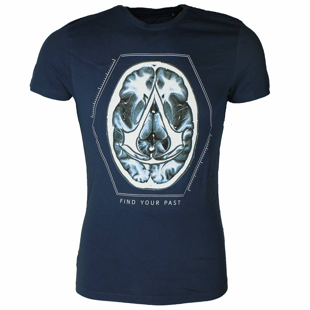 "Assassin's Creed Assassins Creed Brain ""Find Your Past "" T-Shirt Blauw"