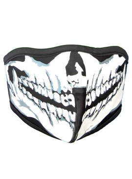 Facemasks Mondkap Skimasker Zwart/Skeleton Skull Print