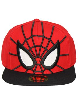 Marvel Comics: The Avengers, Captain America, Spider-Man, The Hulk, Thor, Black Panther, Deadpool, Ant-Man, Iron Man, The Punisher Spider-Man 3D Snapback Cap Pet met Mesh Ogen