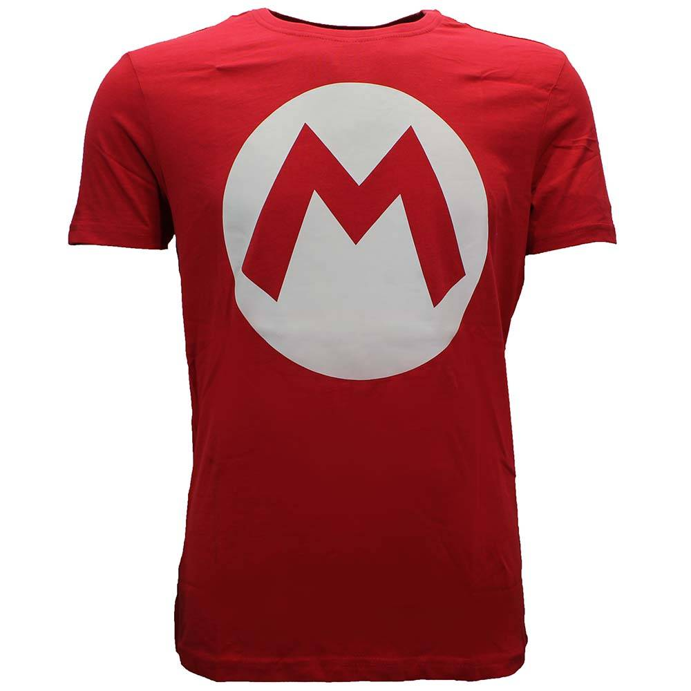 Super Mario Bros Super Mario Bros Mario Big M T-shirt Rood/Wit
