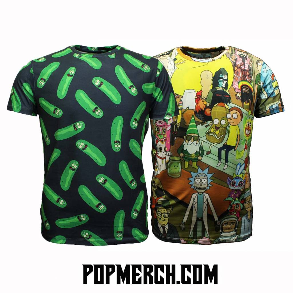 All over Print Rick and Morty T-shirts! Now in Stock.