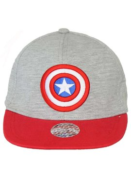 Captain America Marvel Comics Captain America Logo Snapback Cap Pet Grijs