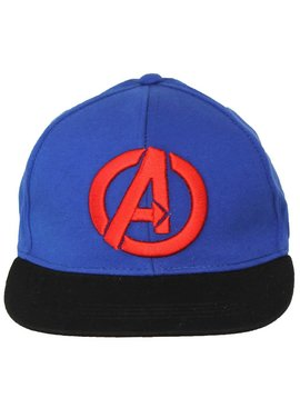 The Avengers Marvel Comics The Avengers Logo Snapback Cap Pet Blauw