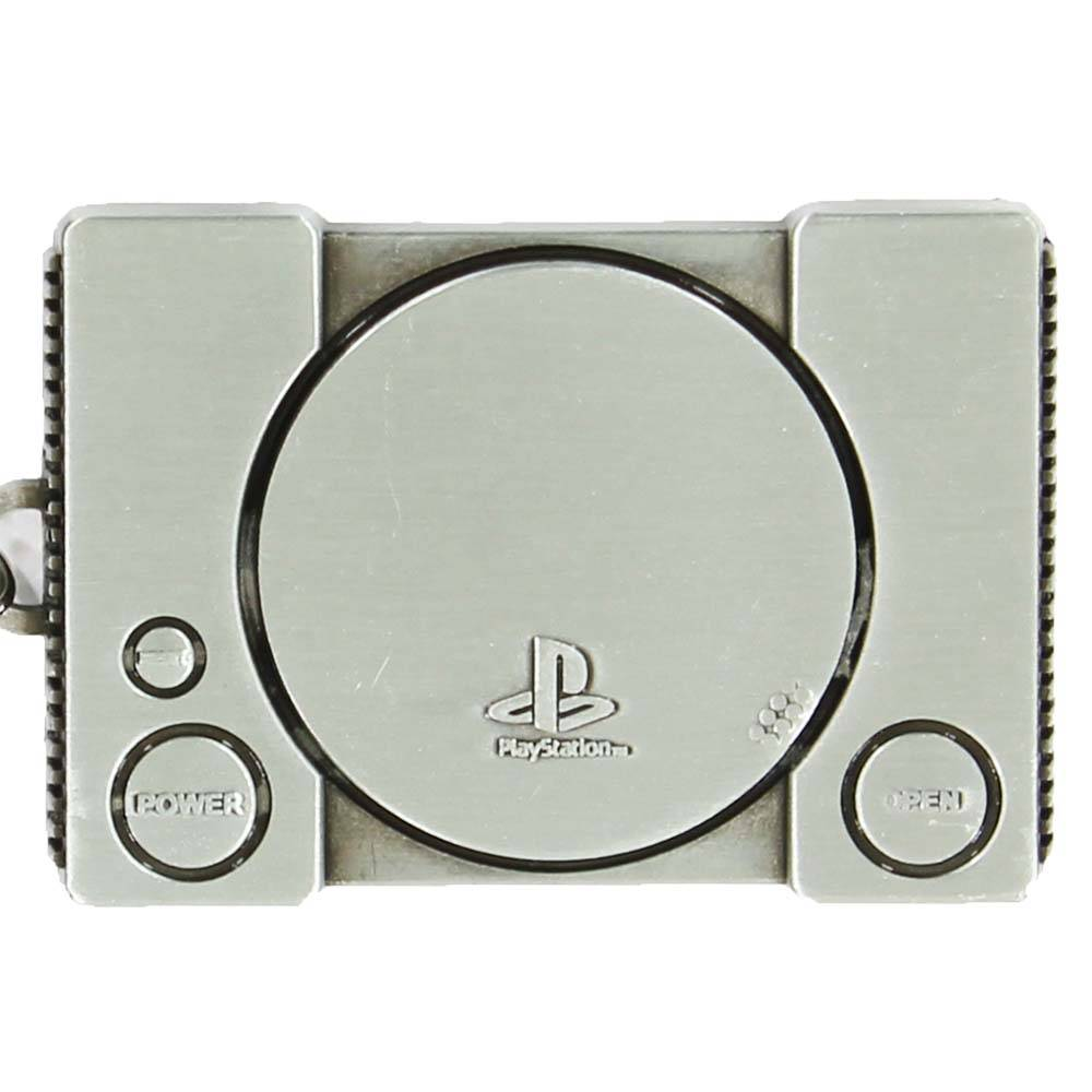 PlayStation  Playstation 1 Console Metal Keychain Silver-Coloured