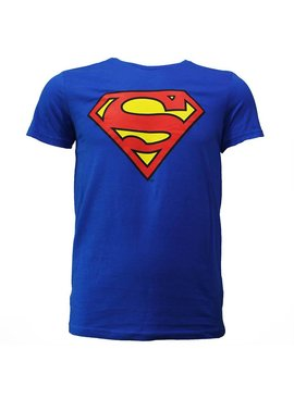Superman Superman Logo T-shirt Bright Blue