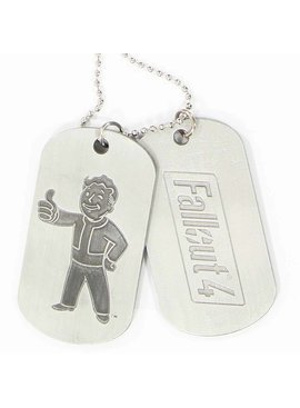 Fallout Fallout 4 Vault Boy and Logo Dogtags Necklace