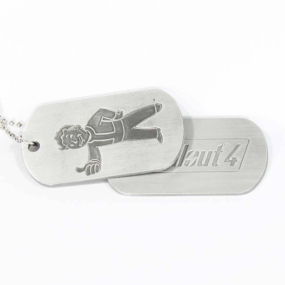 Fallout Fallout 4 Vault Boy and Logo Dogtags Ketting Zilver