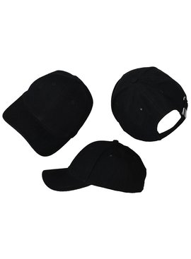 Basics Basic Plain Cap Black 3-Pack