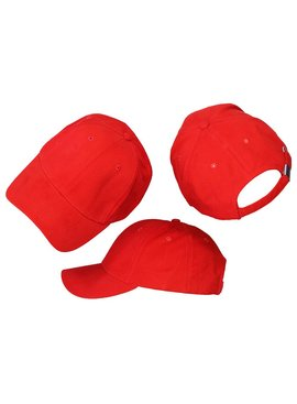 Basics Basic Plain Cap Red 3-Pack