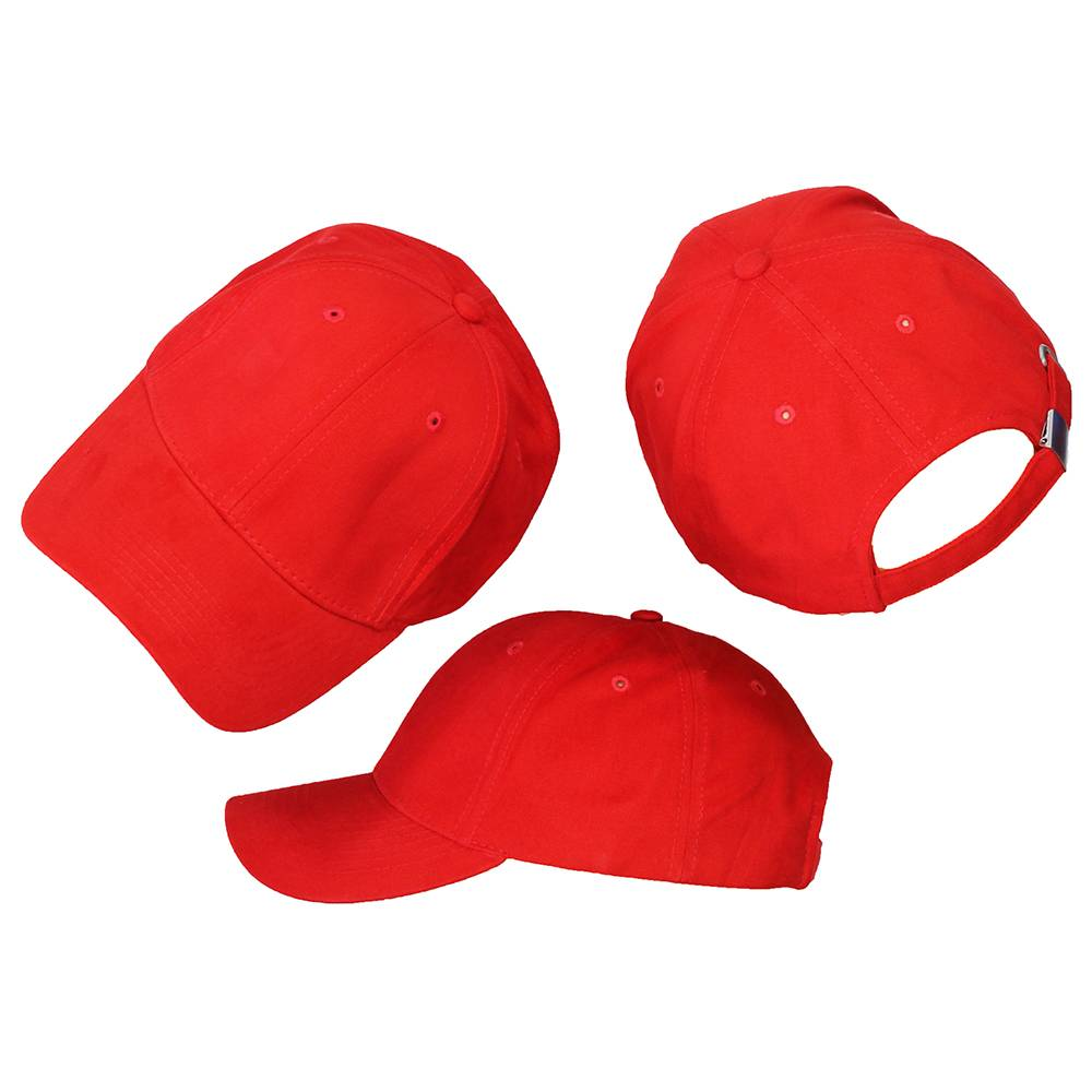 Basics Basic Plain Cap Red 3-Pack