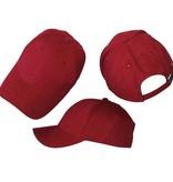 Basics Basic Plain Cap Burgundy Red 3-Pack