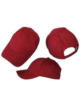 Basics Basic Plain Cap Burgundy Red 3-Pack