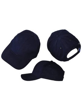 Basics Basic Plain Cap Dark Navy Blue 3-Pack