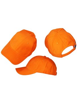 Basics Basic Plain Cap Orange 3-Pack