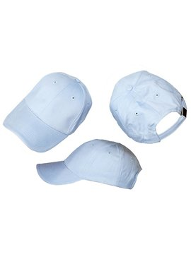 Basics Basic Plain Cap Light Blue 3-Pack