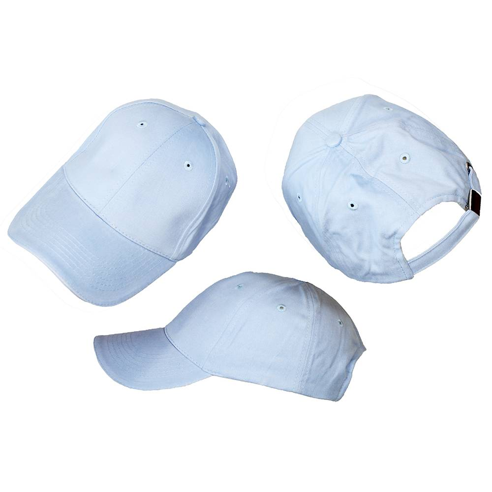 Basics Basic Plain Cap Light Blue 3-Pack