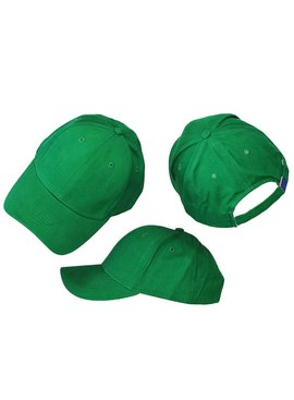 Basics Basic Plain Cap Green 3-Pack