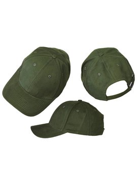 Basics Basic Plain Cap Moss Green 3-Pack
