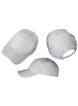 Basics Basic Plain Cap Light Grey 3-Pack