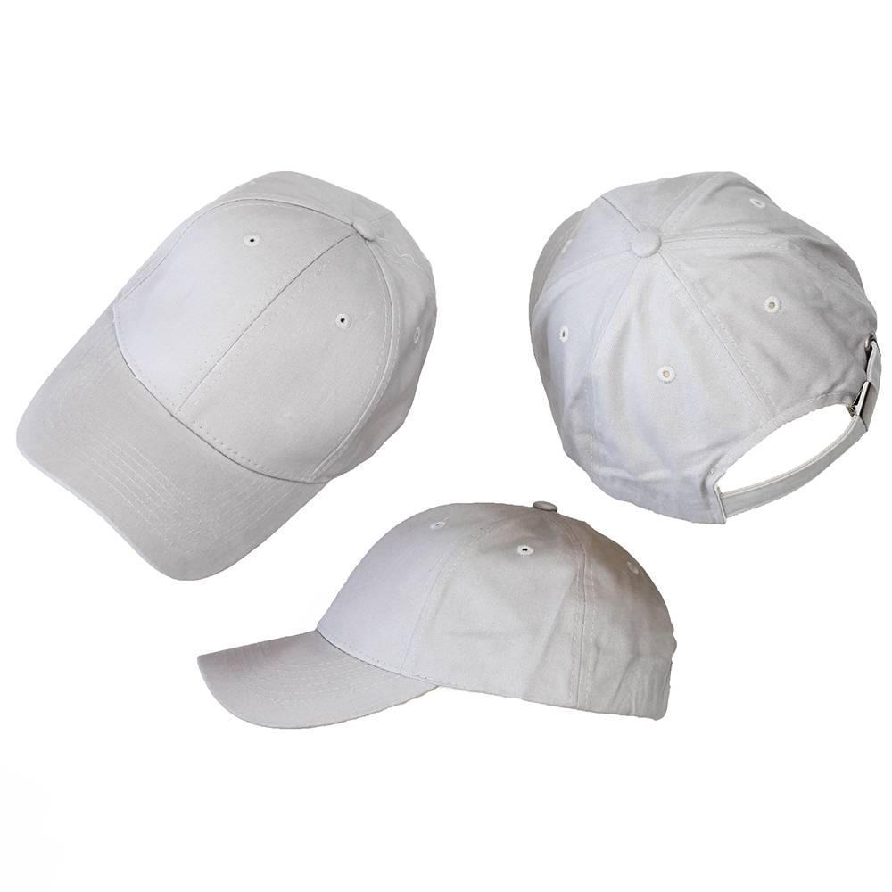 Basics Basic Plain Cap Light Grey 3-Pack