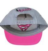 Superman Superman Supergirl Snapback Cap Pet Roze/Grijs